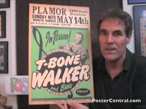 T-Bone Walker Concert Window Card 1950s Blues Guitar Pioneer