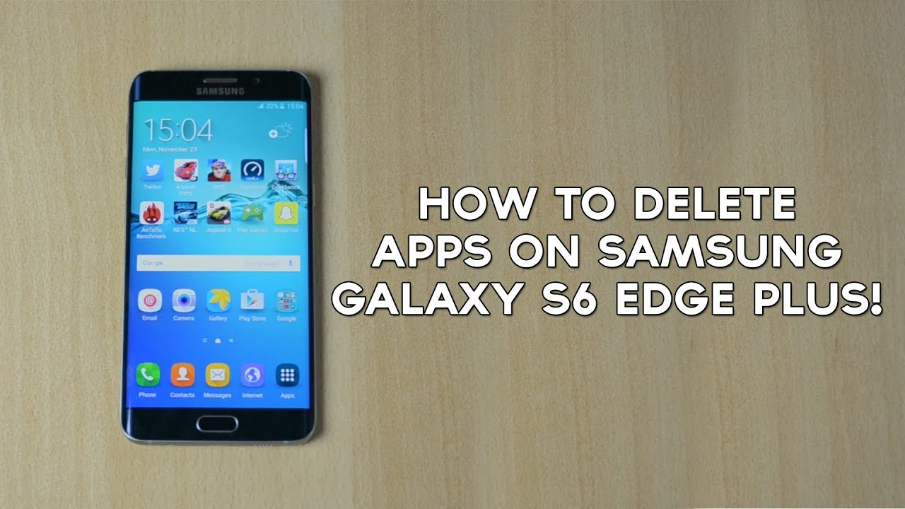 Uninstall Apps On Samsung Galaxy S6 Edge Plus!