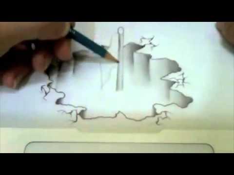 Gambar 3d Dengan Pensil Youtube