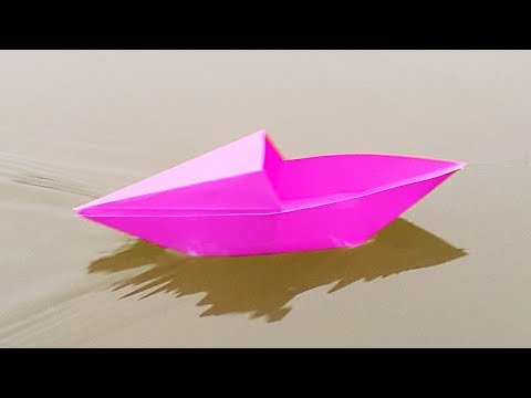 [NO GLUE Paper Crafts] How To Make Paper Boat Without Glue/How to Make a Paper Canoe | Origami Boat