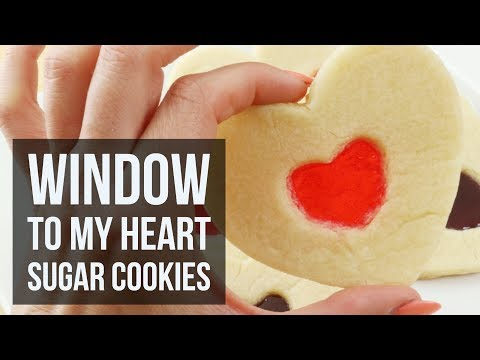 Window To My Heart Sugar Cookies | Easy Valentines Day Dessert Recipe by Forkly