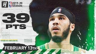 Jayson Tatum 39 Pts Full Highlights   Clippers vs Celtics   February 13, 2020