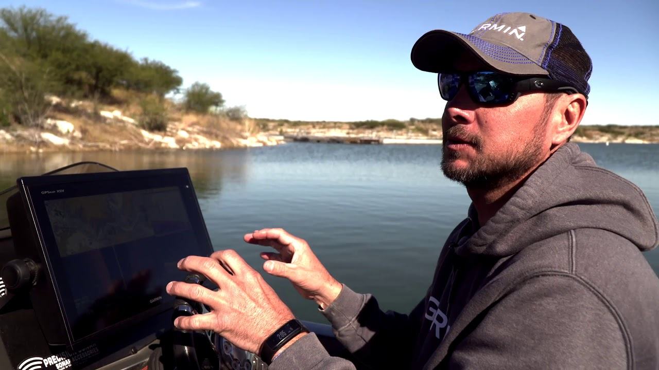 Jason Christie on Lake Amistad talking about Garmin Live Scope