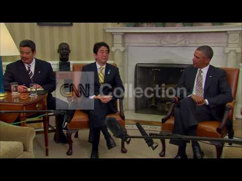 OBAMA MEETS WITH JAPAN PM SHINZO ABE (PHOTO OP)