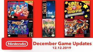 NES & Super NES - December Game Updates - Nintendo Switch Online