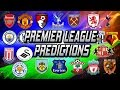 WHO WILL MAKE TOP 4? Premier league table prediction!!!