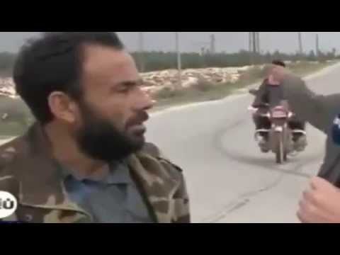Exclusive Accident on Live Tv - Terrorists on Truck & a Bike [ Syria 2015 + REPLAY]