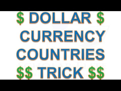 Dollar Currency Counties Trick