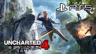 Uncharted 4: A Thief's End - PS5 Gameplay (4K)