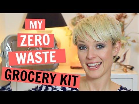 MY ZERO WASTE GROCERY SHOPPING KIT | bulk + plastic free | Kate Arnell