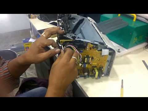 hp 1020 plus printer disassembling and Pressure roller chang