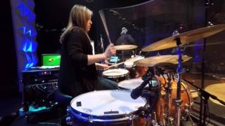 Michelle Berringer Drum Cam - Feet Don't Fail Me Now Performed at The Crossing