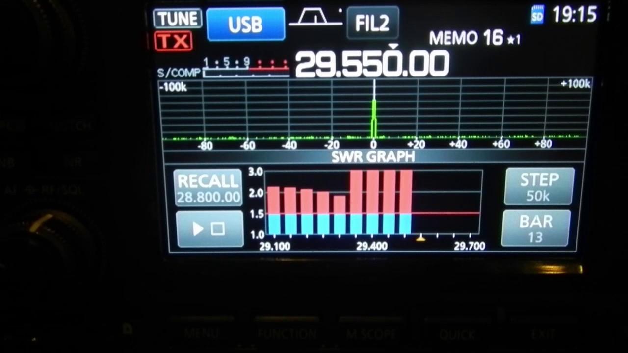 Mosley mini 32a 2 element tri band yagi - P3 SWR checks