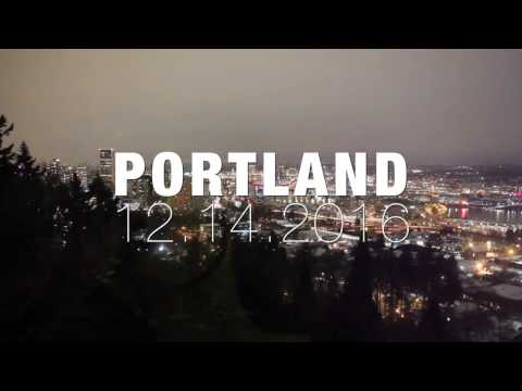 Above Portland, Oregon on a white night