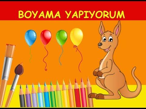 Sevimli Kanguru Boyama Kangaroo Coloring çocuklar Için Süper