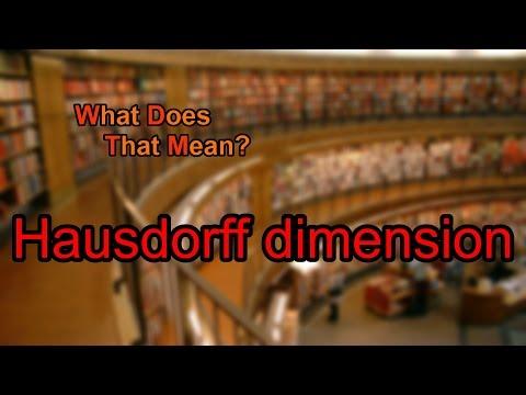 What does Hausdorff dimension mean?