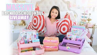 MASSIVE BACK TO SCHOOL SUPPLIES HAUL!!! GIVEAWAY!