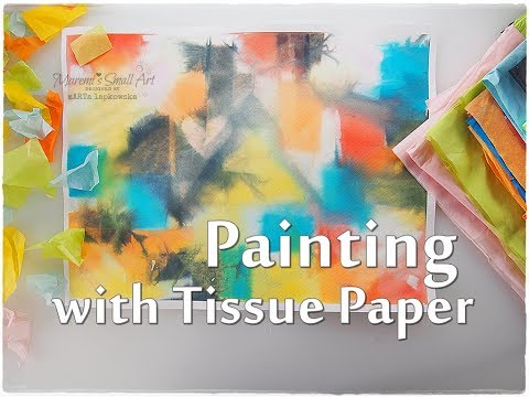 Tissue Paper Painting Background Technique for Beginners ♡ Maremi's Small Art ♡