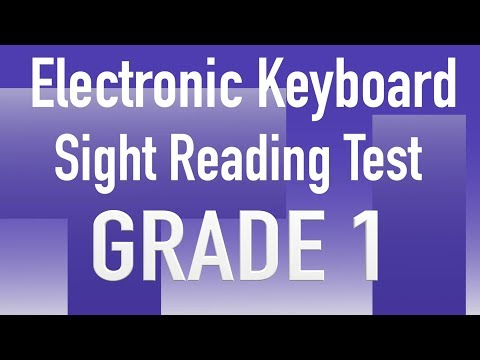 Grade 1 - Sight Reading of Electronic keyboard For Trinity Exams