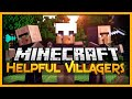 MineCraft - VILLAGER SOLDIERS, ARCHERS, AND MORE! (Helpful Villagers Mod Showcase)