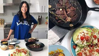 How to Grill a Porterhouse Steak in a Cast-Iron Skillet | Food Network