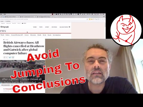 Essential Software Testing Skill - avoid jumping to conclusions