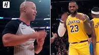 "LeBron James Having Fun with the Ref ""I know I played bad defense last year"""
