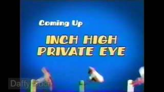 "Rare Inch High Private Eye ""Coming Up Next"" Boomerang Bumper"