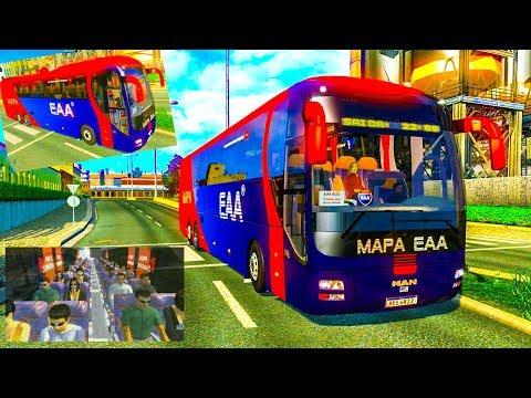 Man Lion Eaa Bus 2019 European road Berlin to Szczecin Euro Truck Simulator 2 Ets2 1,32