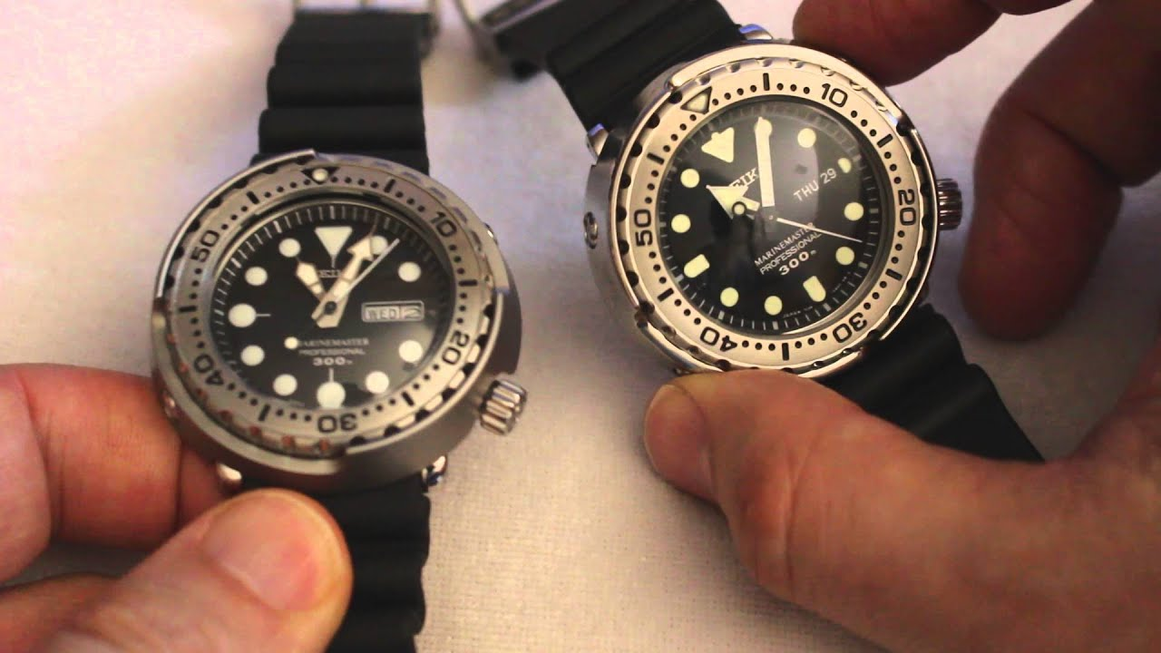sports shoes b7a4b 9d16f Tale of Two Tunas: Seiko SBBN033 and SBBN017 Comparison