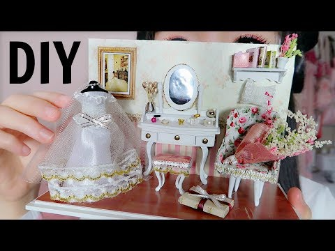 DIY Miniature Wedding Bride Dressing Room