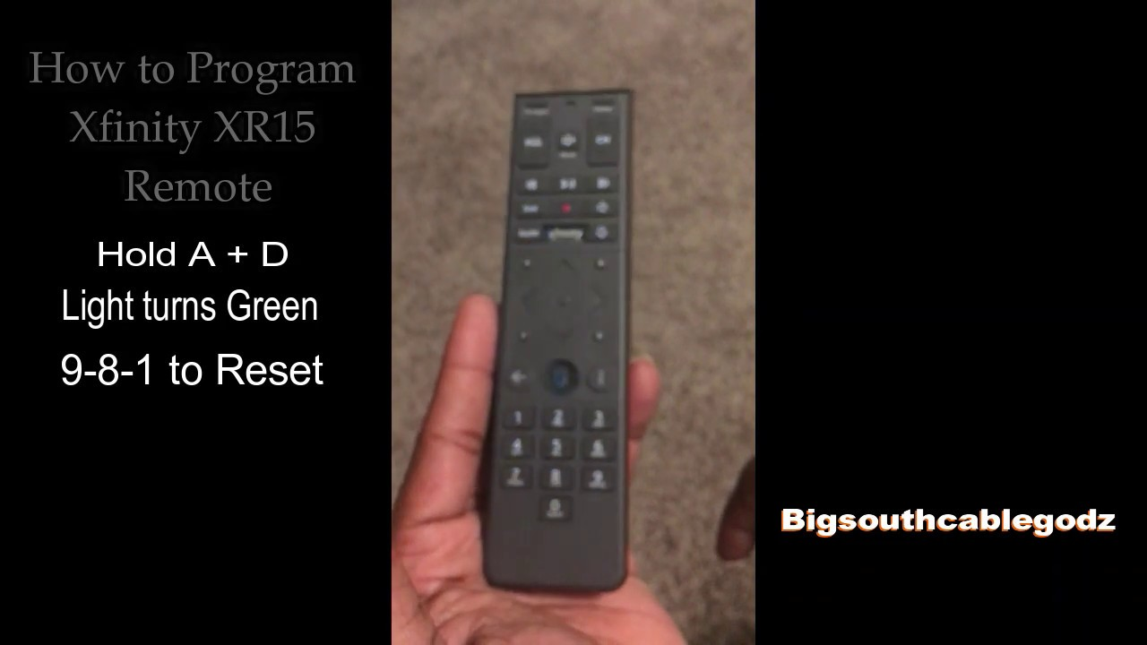 How to RE-program Xfinity Remote to cable box/THE RESET2