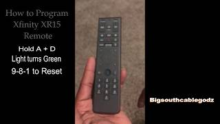 Download How To Program Xr 15 Xfinity Remote In 20 Seconds