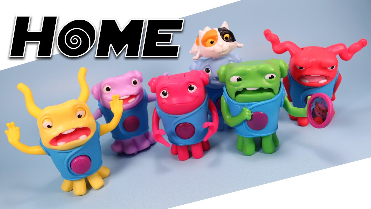 Dreamworks Home Mcdonalds Happy Meal Oh Toys Complete Set Review