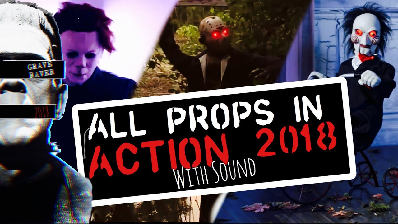 all party city halloween 2018 lifesize props in-action with sound