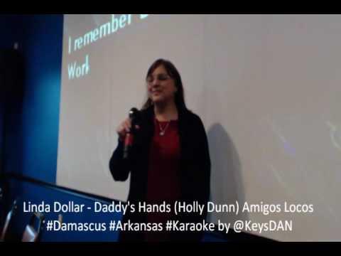 Linda Dollar   Daddy's Hands Holly Dunn Amigos Locos #Damascus #Arkansas #Karaoke by @KeysDAN