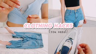 EASY clothing hacks that you need to know!