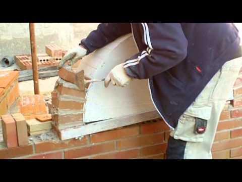 Construcci n arco de medio punto con ladrillo de obra for Construccion de chimeneas de ladrillo