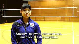 Japan's Kotoe Inoue speaks about volleyball habits