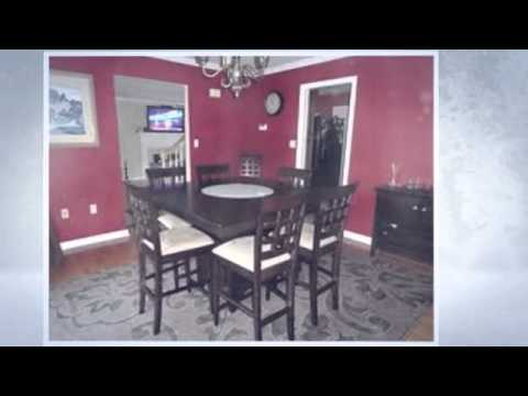 8 Seat Dining Table : 9pc Counter Height Storage Dining Table W/Lazy Susan  U0026 Chair, 8 Seat Dining