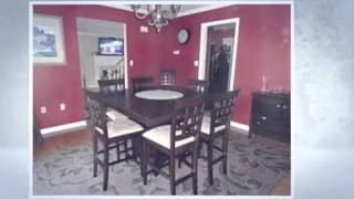 8 Seat Dining Table : 9pc Counter Height Storage Dining Table W/lazy Susan & Chair, 8 Seat Dining
