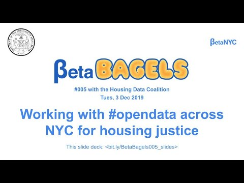 BetaBagels 005   Working With Data Across NYC With The Housing Data Coalition