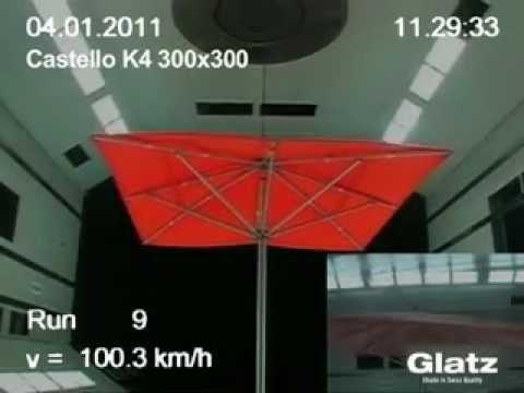 sonnenschirme von glatz im windkanal getestet erh tlich bei youtube. Black Bedroom Furniture Sets. Home Design Ideas