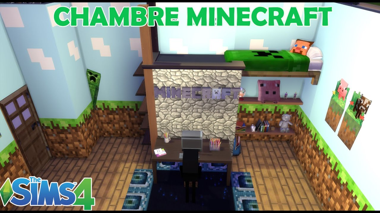 les sims 4 chambre minecraft une piece room build. Black Bedroom Furniture Sets. Home Design Ideas