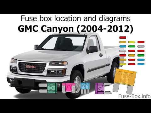 05 gmc canyon fuse diagram fuse box location and diagrams gmc canyon  2004 2012  youtube  fuse box location and diagrams gmc