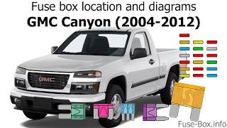 fuse box location and diagrams: gmc canyon (2004-2012) - youtube  youtube