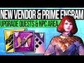 Destiny 2 | VENDOR QUEST & PRIME ENGRAMS! Subclass Quests, New Weapons, Consumables & Exotic Rewards