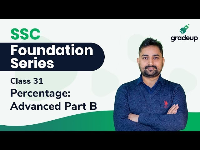 SSC Foundation Series || Percentage: Advanced Part B by Randhir Singh