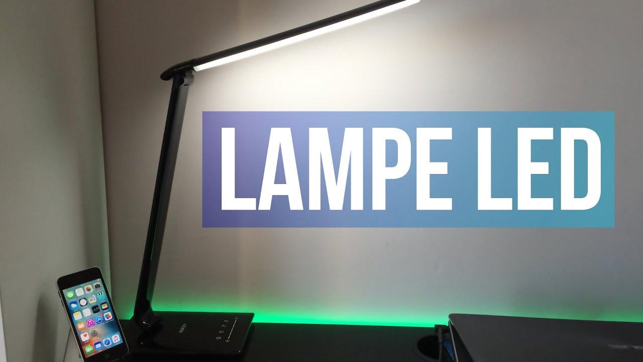 Test d une lampe led de bureau high tech youtube