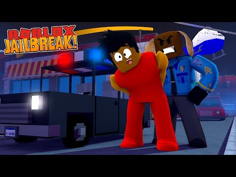 ROBLOX JAIL BREAK - DONUT GETS ARRESTED NY A CROOKED COP!!